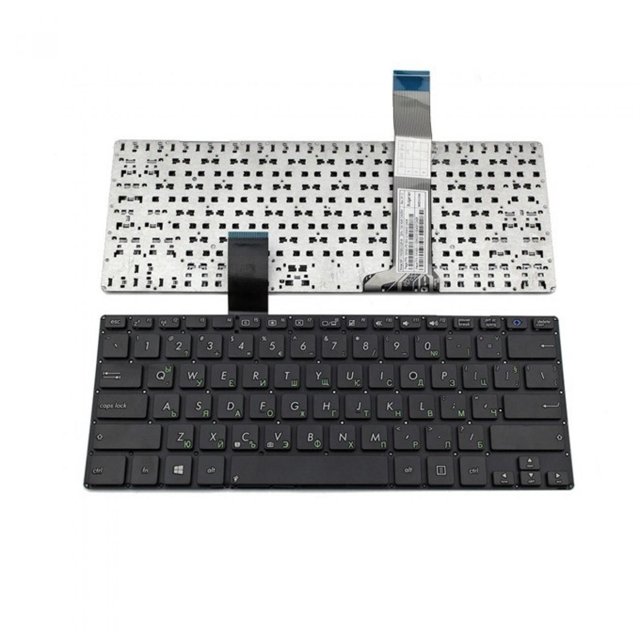 Клавиатура за лаптоп Asus, съвместима със серия VivoBook S300, US, без рамка, с черни бутони в Резервни части - OEM | Alleop
