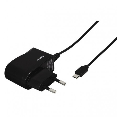 Зарядно устройство Hama 173670, от контакт към microUSB(м), 5V / 1A, черен в Зарядни устройства за батерии - Hama | Alleop
