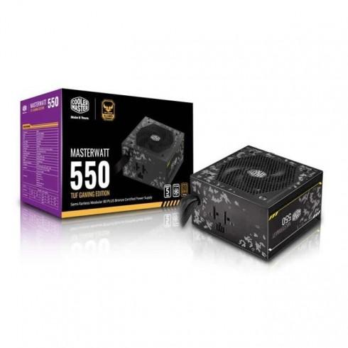 Захранване Cooler Master MasterWatt, 550W, Active PFC, 80+ Bronze, полу-модулно, 120 mm вентилатор в Захранвания Настолни компютри - CoolerMaster | Alleop