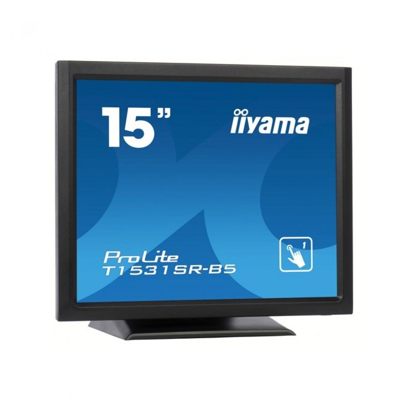 Монитор Iiyama ProLite T1531SR-B5, 15 (38.1 cm), TN панел, XGA (1024x768), 8ms, 700:1, 300cd/m2, DP, HDMI, VGA в Монитори - Iiyama   Alleop