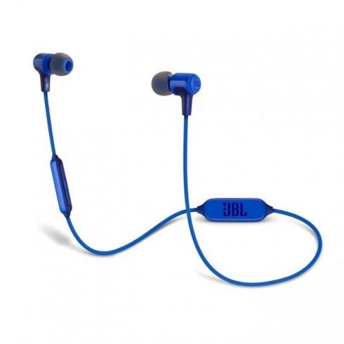 Слушалки JBL E25ВТ, безжични, микрофон, до 8 часа работа, син в Слушалки - JBL | Alleop