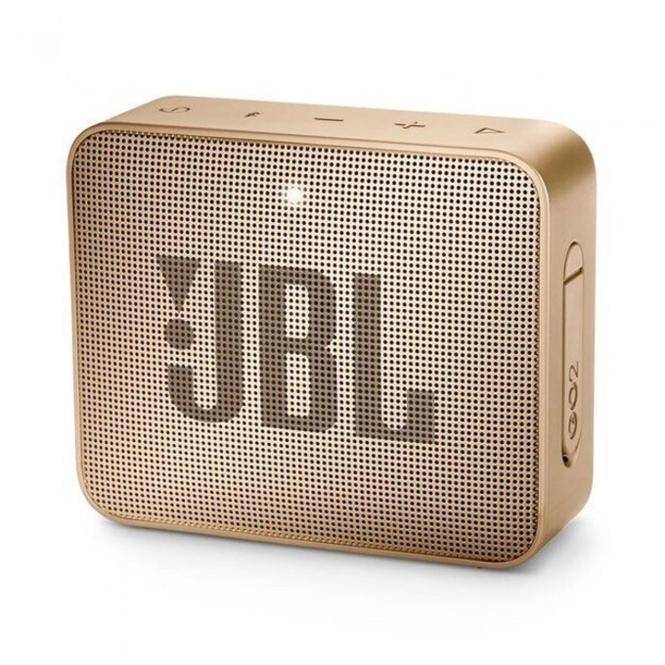 Тонколона JBL GO 2, 1.0, 3W RMS, 3.5mm jack/Bluetooth, златиста, до 5 часа работа, IPX7 в Колони - JBL | Alleop