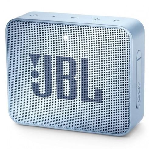 Тонколона JBL GO 2, 1.0, 3W RMS, 3.5mm jack/Bluetooth, светлосиня, до 5 часа работа, IPX7 в Колони - JBL | Alleop