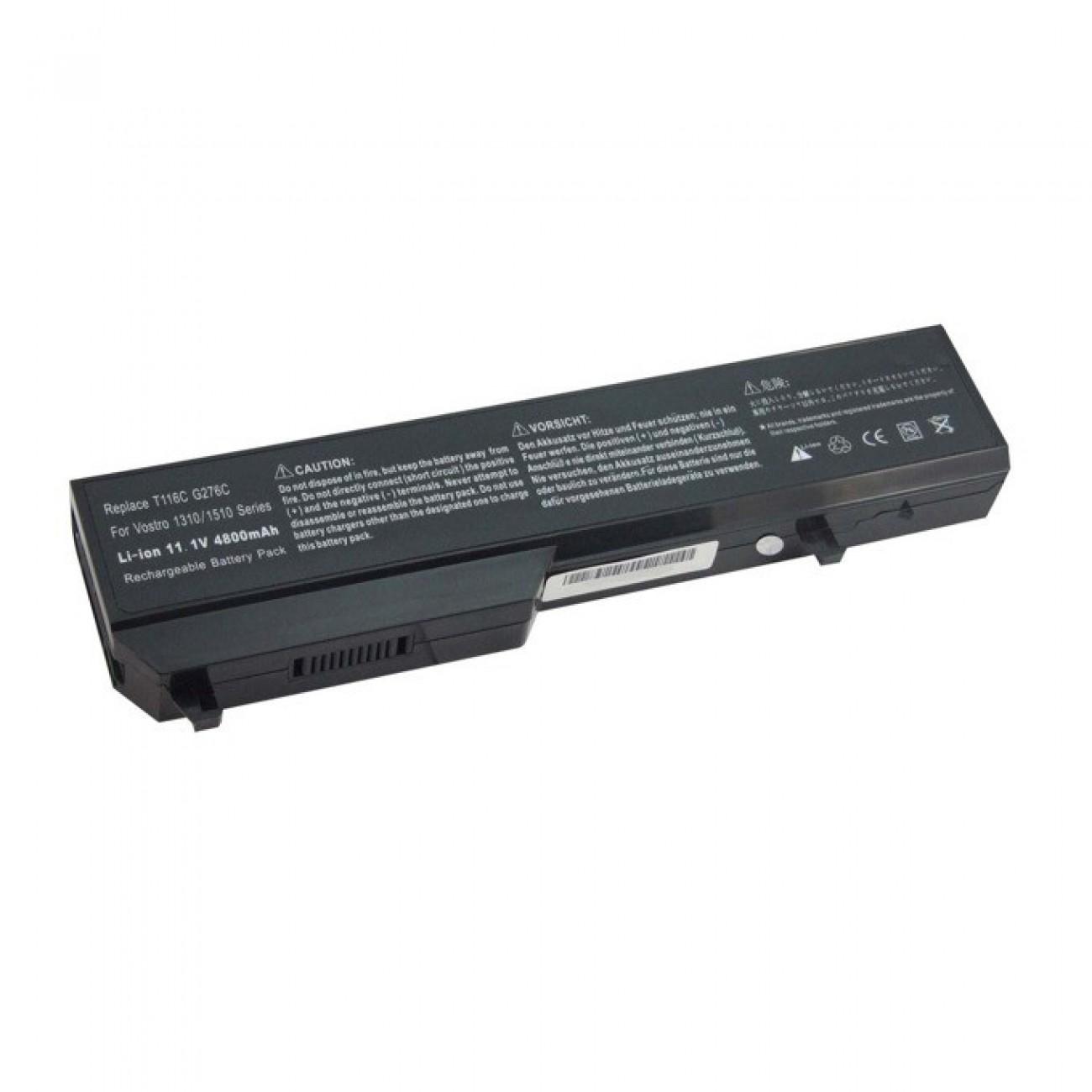Батерия (заместител) за Dell Vostro 1310, съвместима с 1320/1510/2510, 6cell, 11.1V, 5200mAh в Батерии за Лаптоп - Noname | Alleop