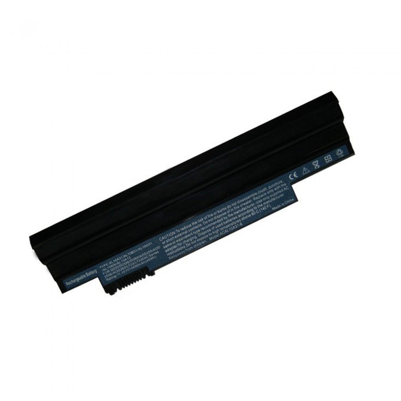 Батерия (заместител) за Acer Aspire One 522, съвместима с D255/Gateway LT23/EMACHINE 355, 6cell, 11.1V, 4400mAh в Батерии за Лаптоп - Noname   Alleop