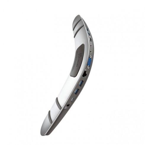 Докинг станция j5create JUD481 Boomerang, 4x USB 3.0, LAN1000, 1x micro USB 3.0 Type B, 1x HDMI, 1x VGA, 1x Audio, 1x Mic в Докинг станции - j5create | Alleop