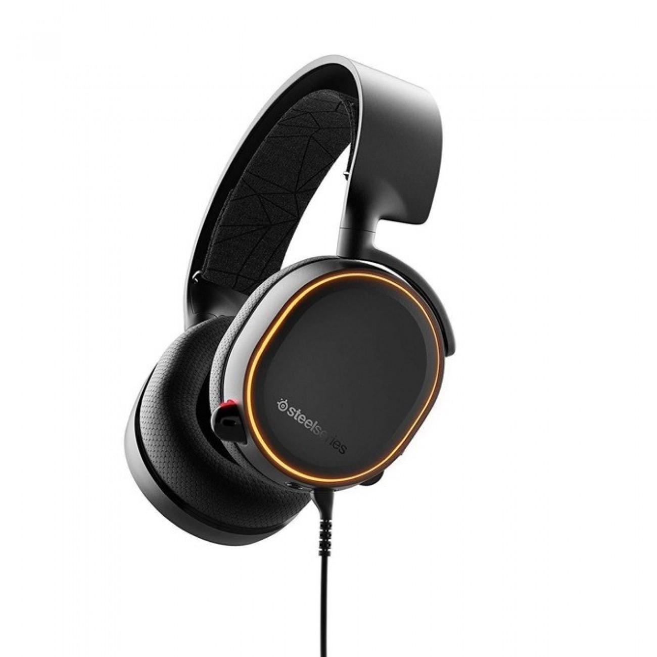 Слушалки Steel Series ARCTIS 5 2019 Edition, гейминг, микрофон, контрол на звука, Prism RGB подсветка, черни в Слушалки - SteelSeries | Alleop