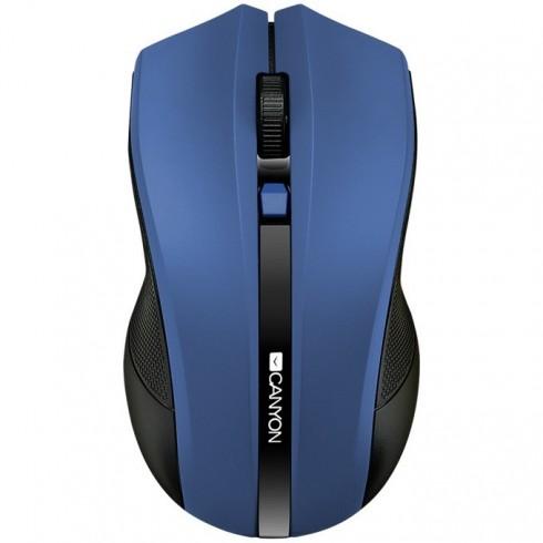 Мишка Canyon CNE-CMSW05BL, оптична (1600 dpi), безжична, USB, синя в Мишки - Canyon | Alleop