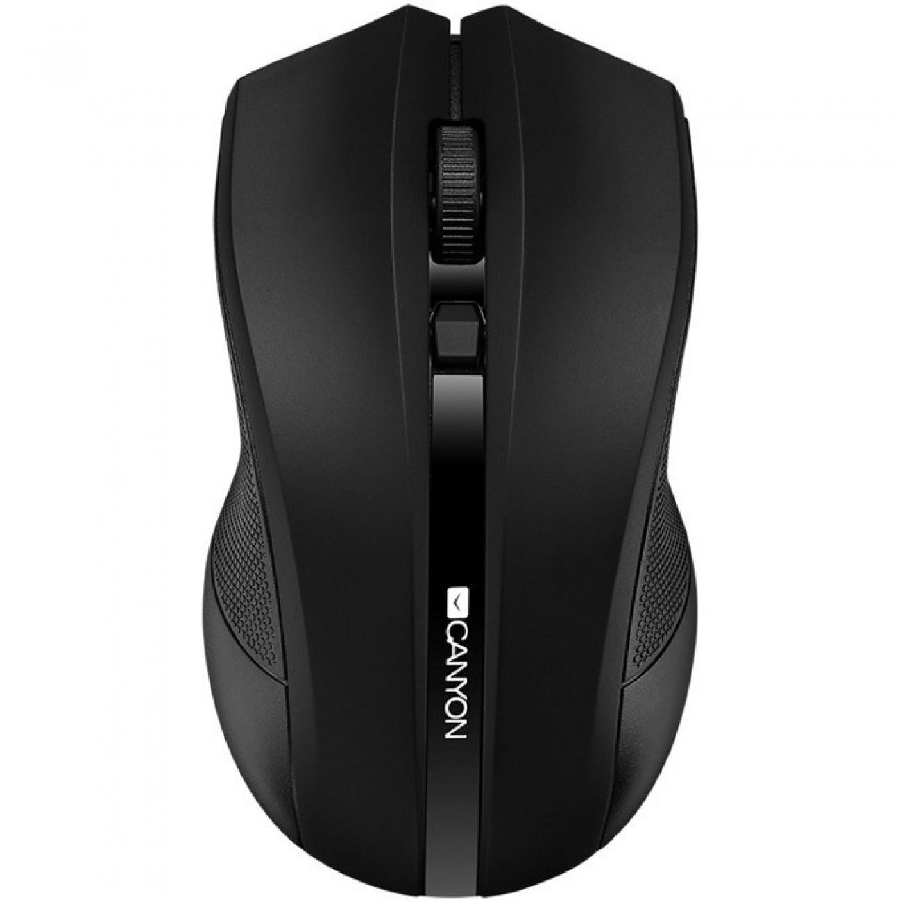 Мишка Canyon CNE-CMSW05B, оптична (1600 dpi), безжична, USB, черна в Мишки - Canyon | Alleop