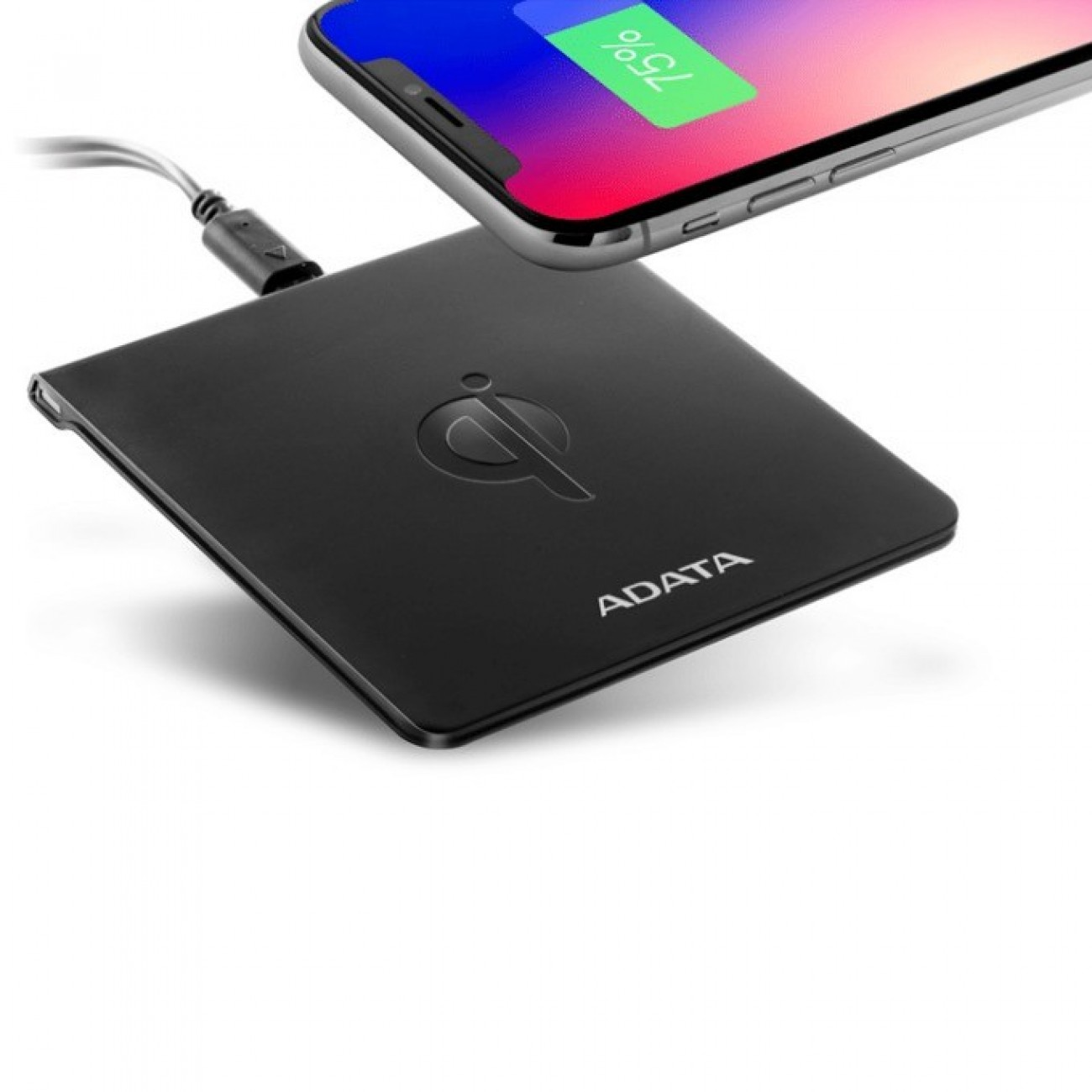 Зарядно устройство Adata CW0050, Micro USB (5V/2A) към безжично зареждане 5V/1A, черно в Зарядни устройства за батерии - A-Data | Alleop