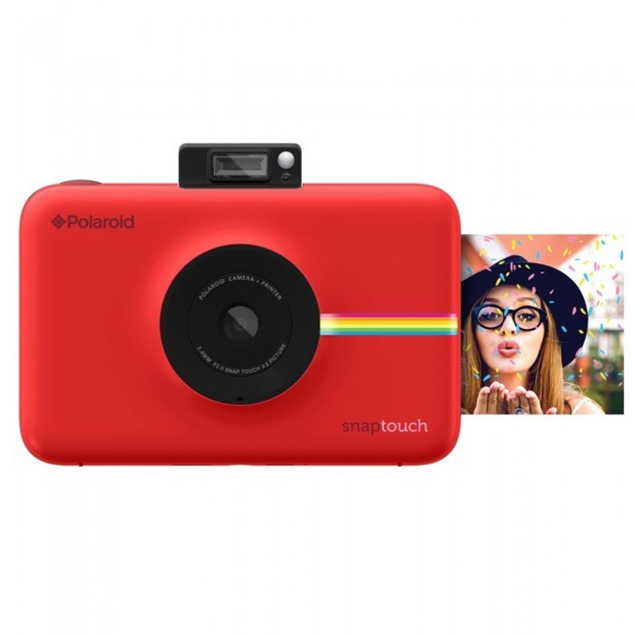 Фотоапарат Polaroid Snap Touch, 13.0 Mpix, 3.5 (8.89cm) сензорен мулти-тъч дисплей, MicroSD слот, 1080p видео резолюция, Bluetooth, червен в Фотоапарати - Polaroid | Alleop
