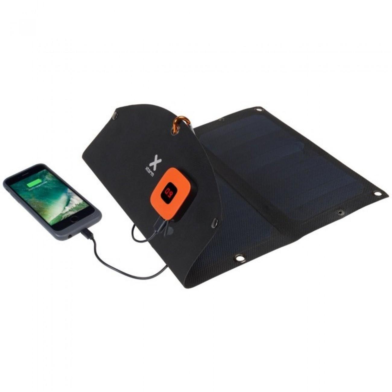 Соларен панел за зареждане A-solar Xtorm SolarBooster 14W Panel AP250, към 2x USB, 5V/2.1A, черно в Зарядни устройства за батерии - A-Solar | Alleop