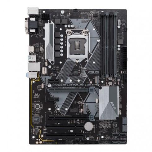 Дънна платка Asus PRIME H370-PLUS/CSM, H370, LGA1151, DDR4, PCI-Е(HDMI&DVI)(CFX), 6x SATA 6Gb/s, 2x M.2 Socket, 2x USB 3.1 (Gen 2), ATX в Дънни платки за Intel процесори - Asus | Alleop