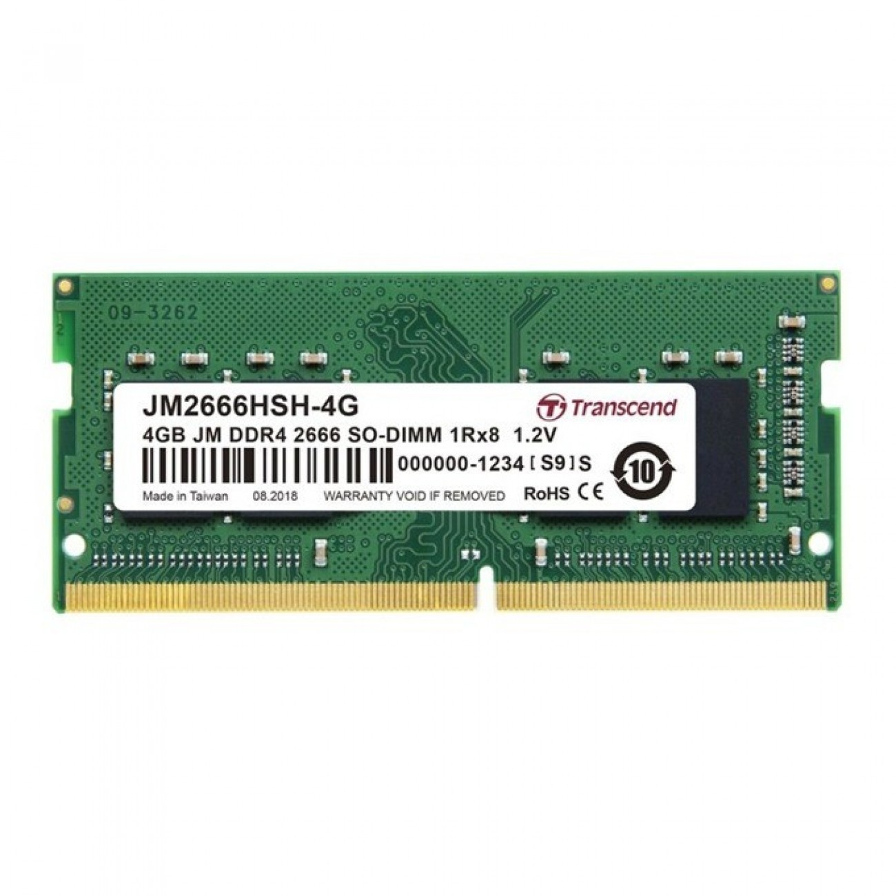 Памет 4GB DDR4 2666MHz, SO-DIMM, Transcend JM2666HSH-4G, 1.2V в Лаптоп Памети - Transcend | Alleop