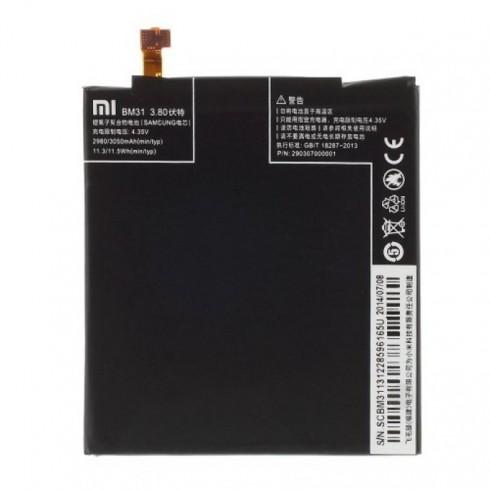 Батерия (оригинална) Xiaomi BM31, за XiaoMi Mi3, 3050mAh/3.80V, bulk в Батерии за Телефони, Таблети - Xiaomi | Alleop