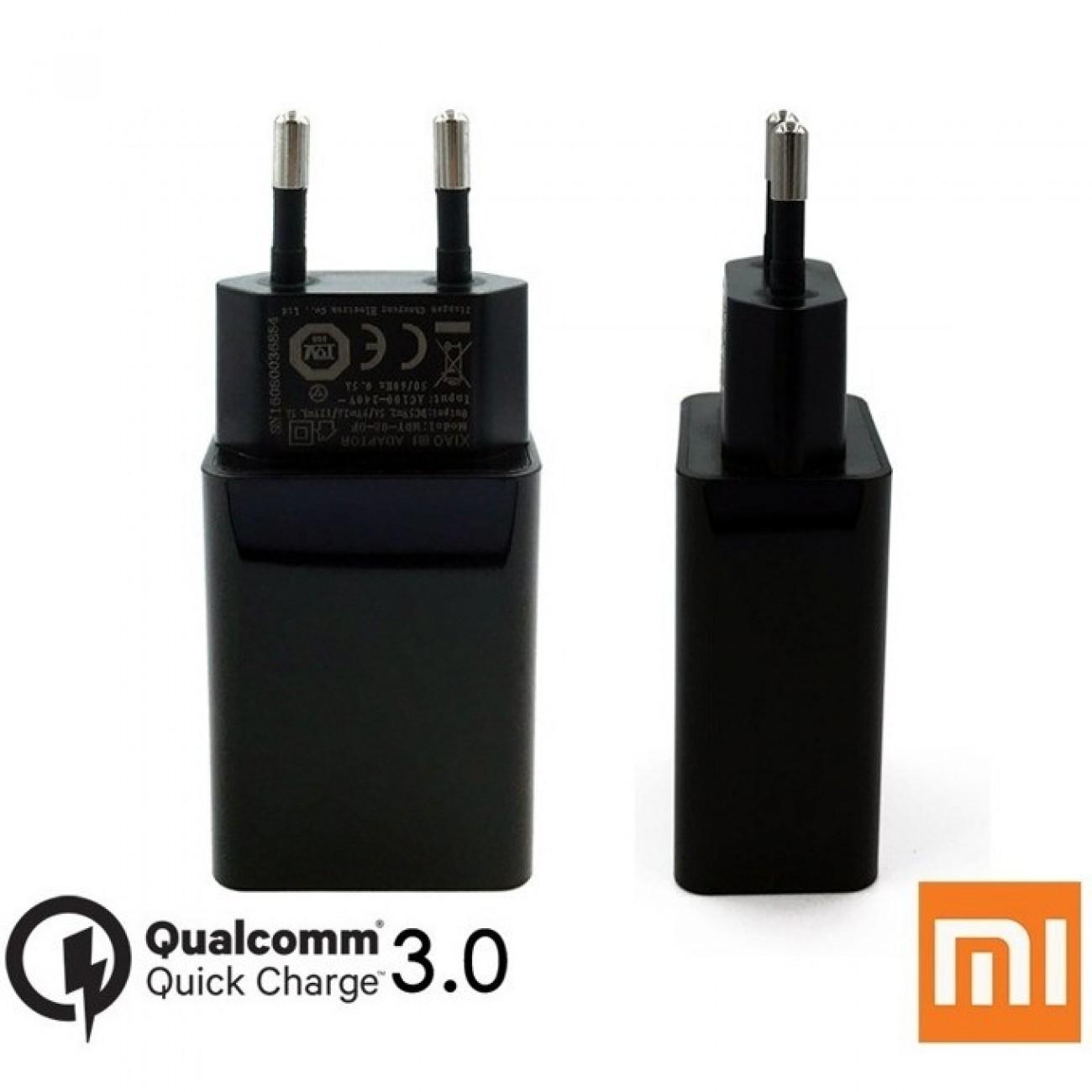 Зарядно устройство Xiaomi Mi MDY-08-DF, от контакт към USB-A(ж), Qualcomm QuickCharge 3.0 5V/2.5A, черен, bulk в Зарядни устройства за батерии - Xiaomi | Alleop