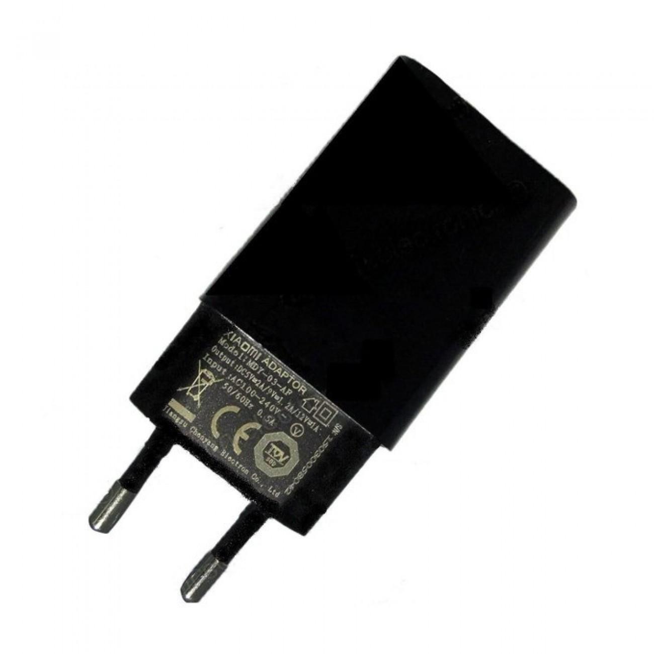 Зарядно устройство Xiaomi Mi Fast Charger MDY-03-AF, от контакт към USB-A(ж), 5V/2A, черен, bulk в Зарядни устройства за батерии - Xiaomi | Alleop