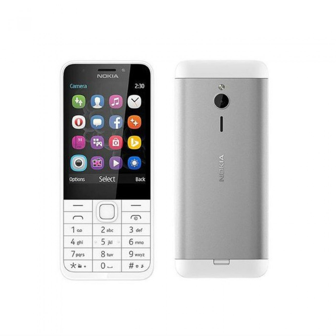 GSM NOKIA 230 (сребрист), 2.8 (7.11 cm), 16MB RAM, (+microSD слот), 2.0 Mpix camera, Software release: Series 30+, 91.8g. в Мобилни телефони - Nokia | Alleop