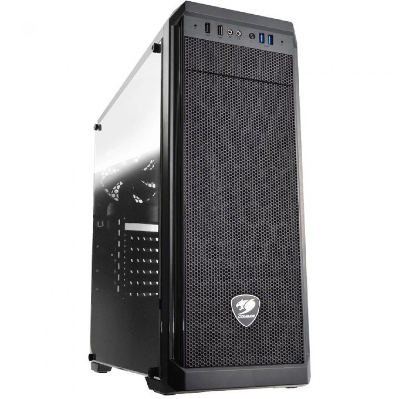 ATX/mATX/miniITX Cougar Gaming MX330, 2x USB 3.0, страничен прозорец, черна, без захранване в Компютърни кутии - Cougar Gaming   Alleop