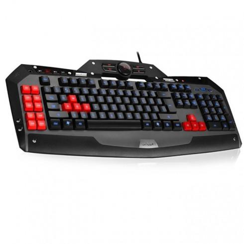 Клавиатура Delux T15U, гейминг, подсветка, вентилатор, сменяеми клавиши, черна, USB в Клавиатури - Delux | Alleop