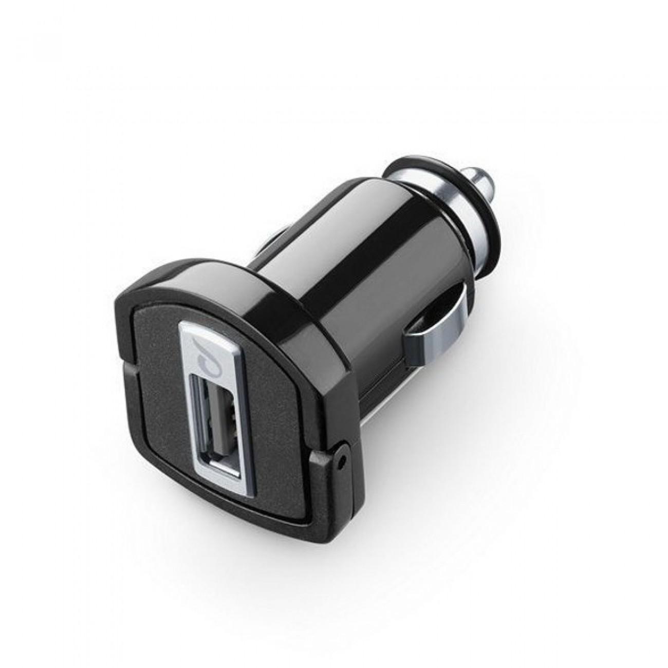 Зарядно устройство Cellular Line, от автомобилна запалка към USB-A(ж), черно в Зарядни устройства за батерии - Cellular Line | Alleop