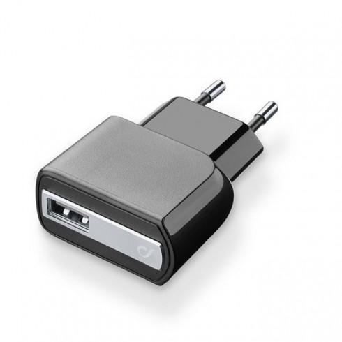Адаптер за зарядно Cellular Line, от контакт към USB-A(ж), 1A, универсален, черен в Зарядни устройства за батерии - Cellular Line | Alleop