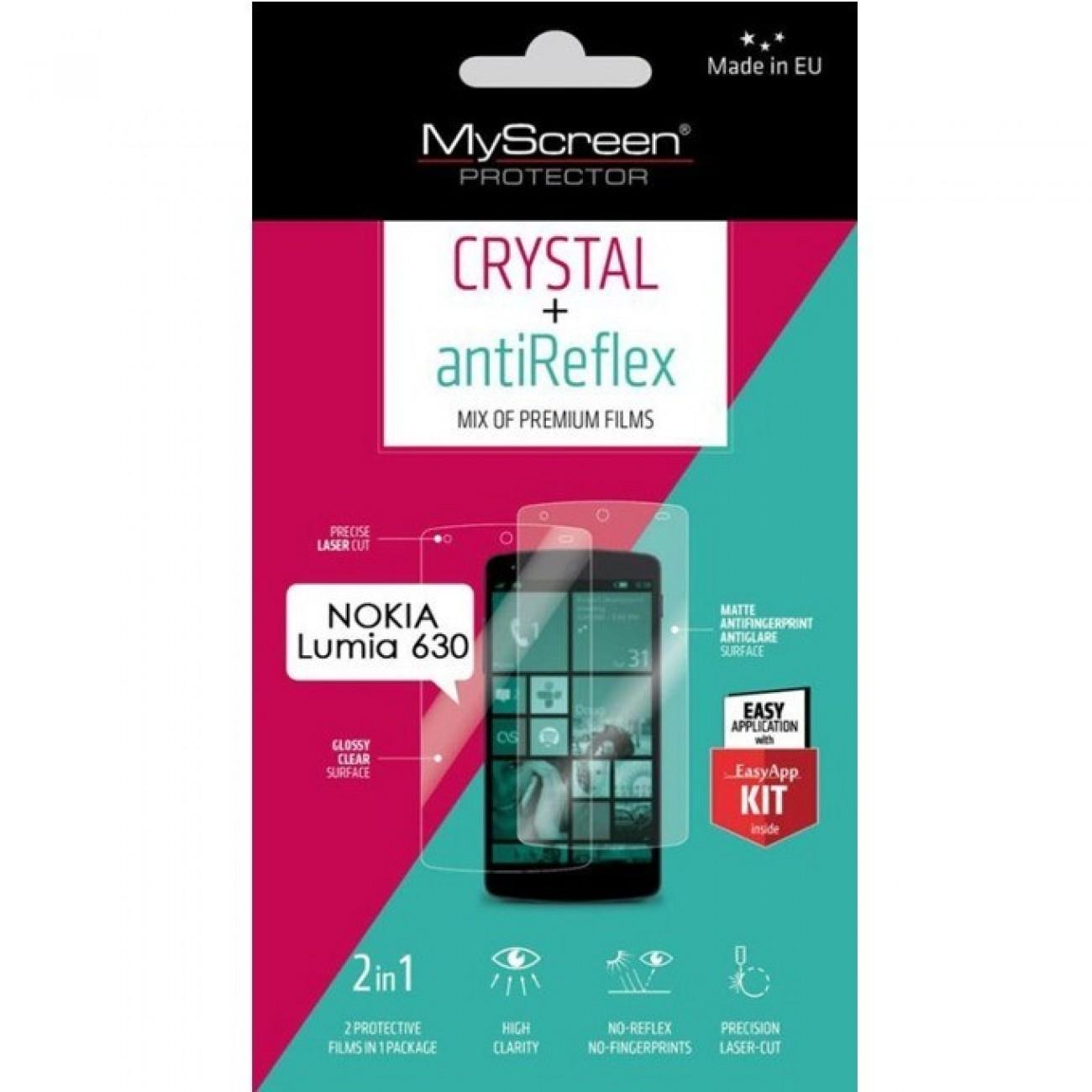 Протектор от закалено стъкло /Tempered Glass/, My Screen Protector, за Nokia Lumia 630, с Anti-Glare фолио в Защитно фолио - My Screen Protector   Alleop