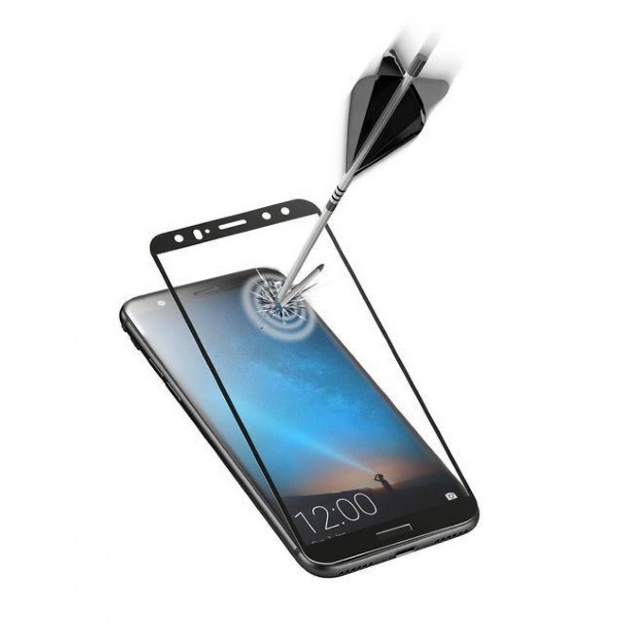 Протектор от закалено стъкло /Tempered Glass/, Cellular Line, за Huawei Mate 10 Lite, черен в Защитно фолио - Cellular Line | Alleop