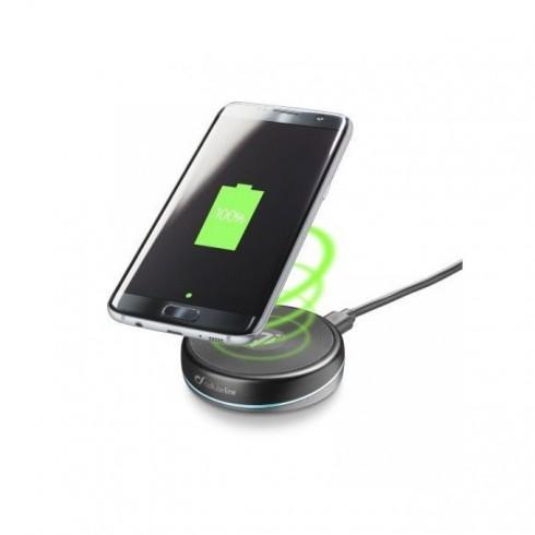 Зарядно устройство Cellular Line Twist, от контакт към безжично зарядно, 10W, черно в Зарядни устройства за батерии - Cellular Line | Alleop