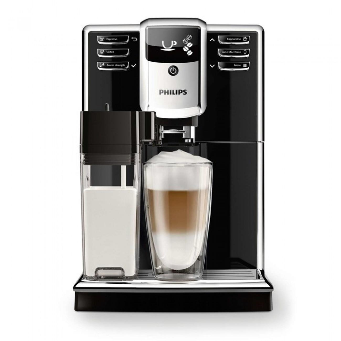 Aвтоматична кафемашина Philips Series 5000 EP5360/10, 5 напитки, Вградена кана за мляко, PianoBlack, AquaClean в Кафемашини -  | Alleop
