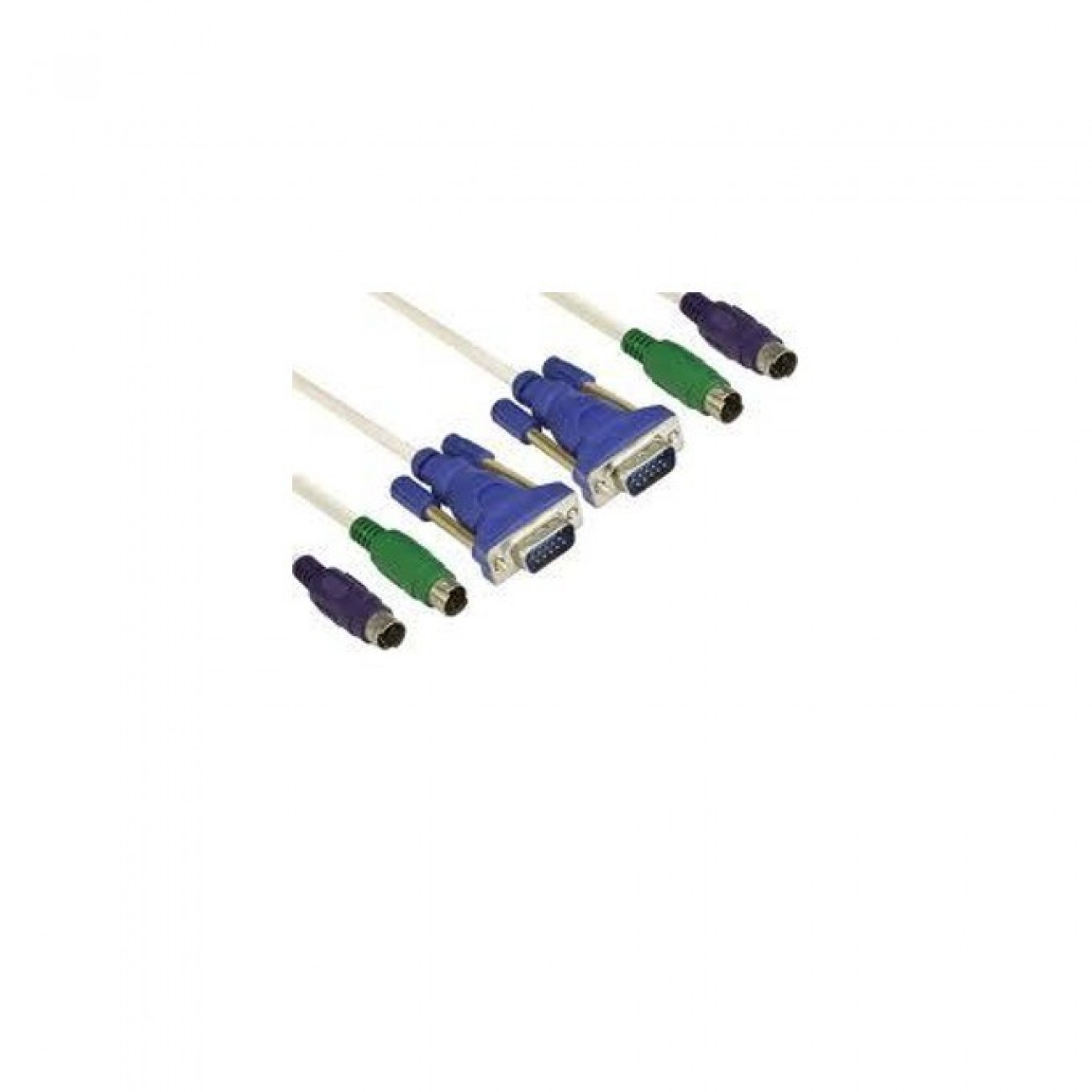 Кабел VCom CK501A-3m, от (VGA + 2x PS/2)(м) към (VGA + 2x PS/2)(м), за KVM switch, 3m