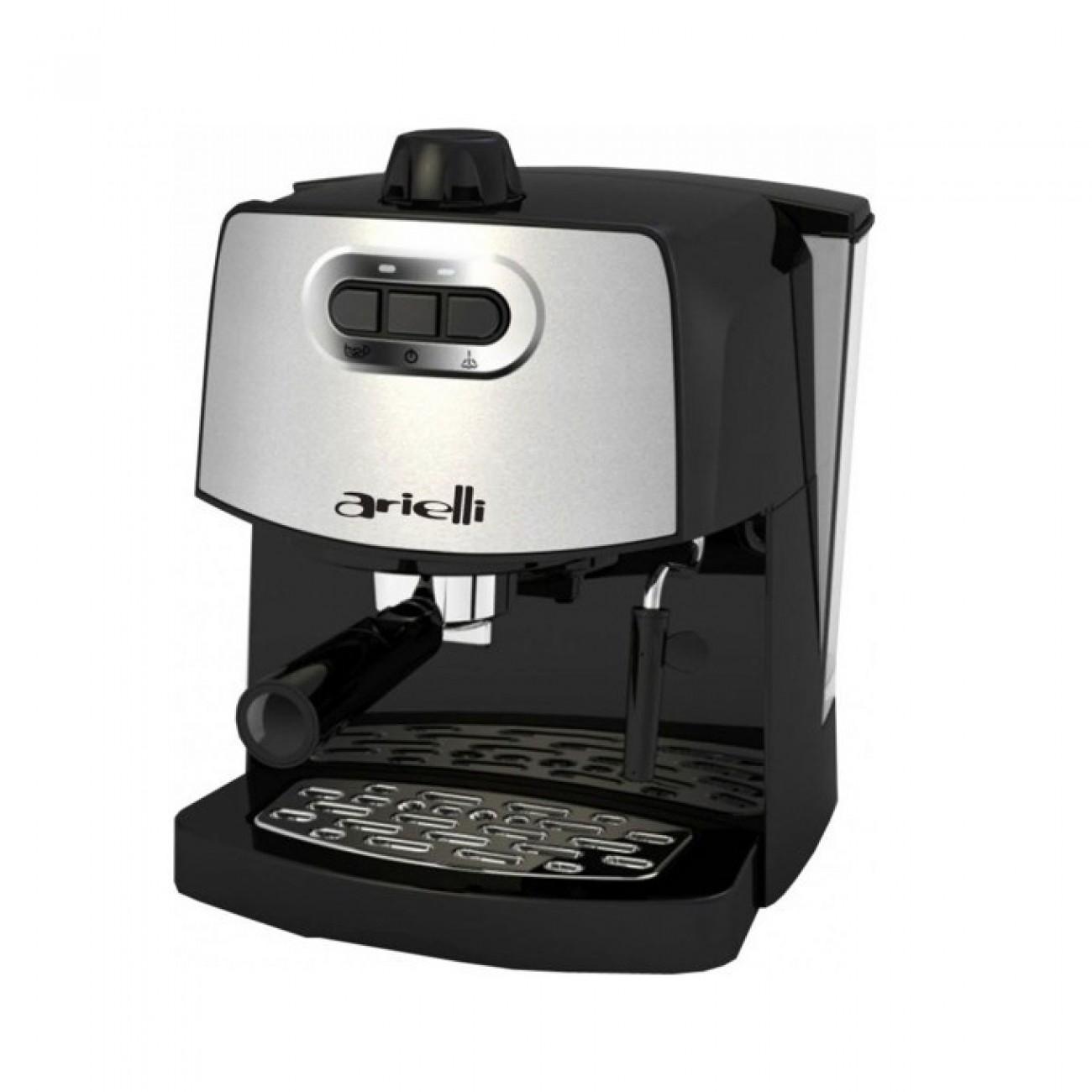Ръчна еспресо кафемашина Arielli KM-190BS, 15 bar, 1.8 литра подвижен резервоар, крема диск, черна в Еспресо машини - Arielli | Alleop