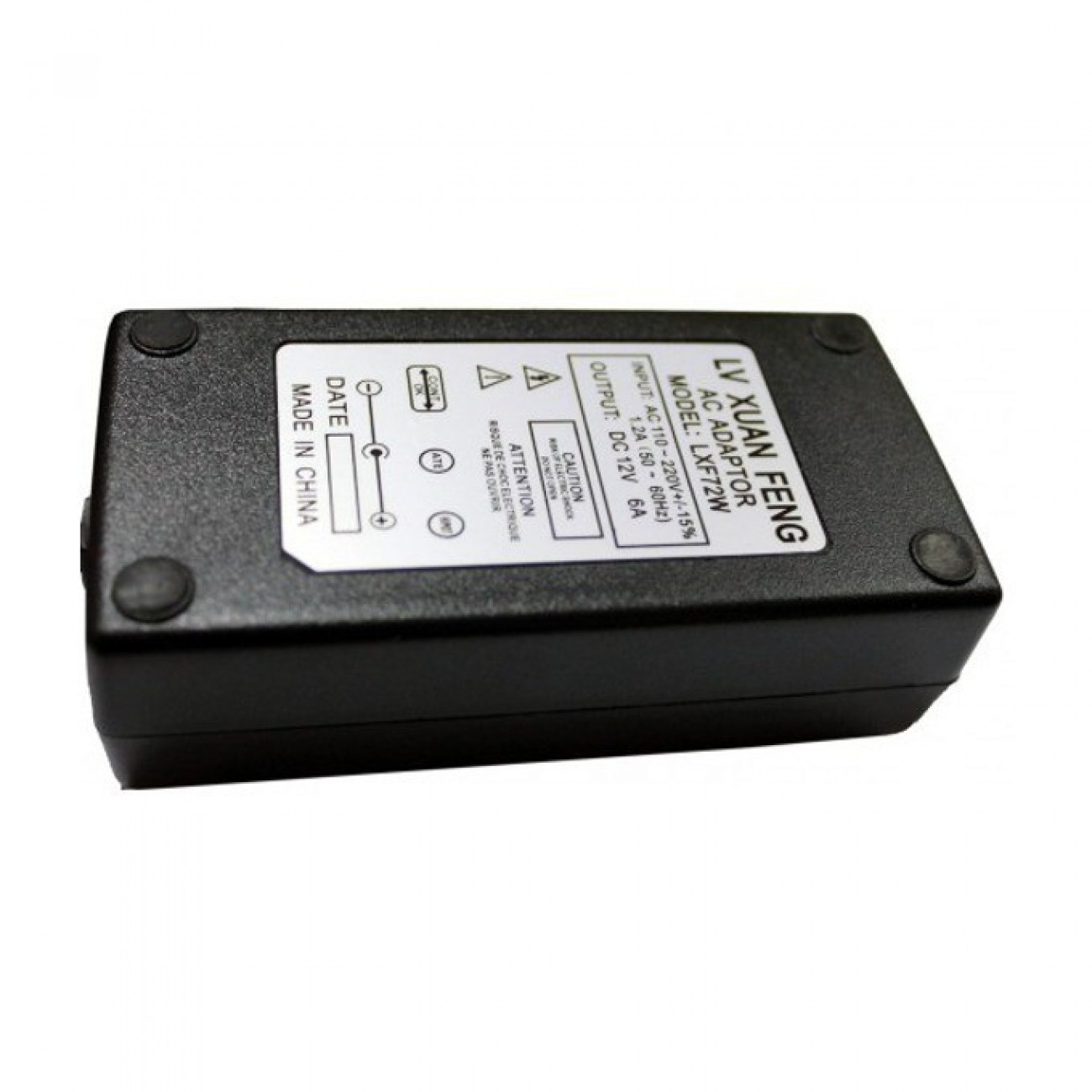 Захранващ адаптер за LCD монитори 12V/6.0A, жак 5.5/2.5мм в Захранвания аксесоари -    Alleop