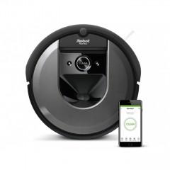 Прахосмукачка IRobot Roomba i7+ 7558, робот, безжична, навигация iAdapt 3.0, AeroForce филтър, сензор против падане по стълби, черен
