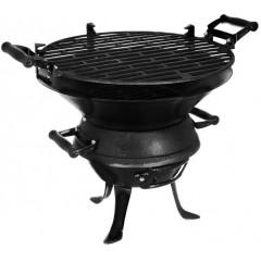 Барбекю на въглища от чугун TEMAX, 630, 35.5/43 см, Черен