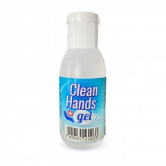 Дезинфектант за ръце комплект Clean Hands Gel, 5 броя, 50 ml, 65% алкохол, Антибактериален, Бял